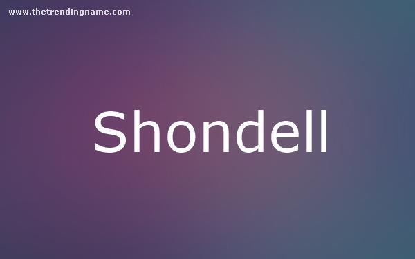Baby Name Poster For Shondell