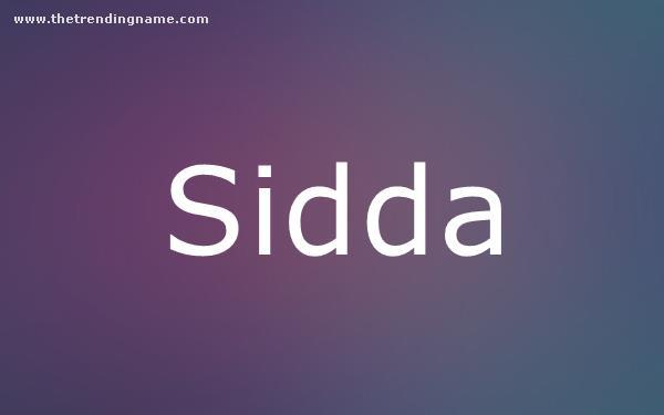 Baby Name Poster For Sidda