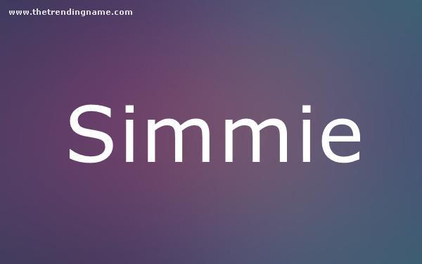 Baby Name Poster For Simmie