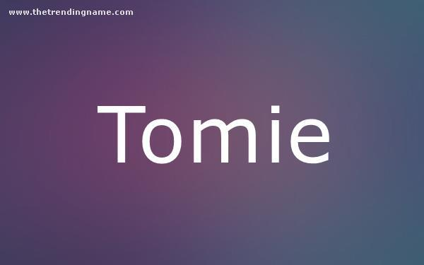 Baby Name Poster For Tomie