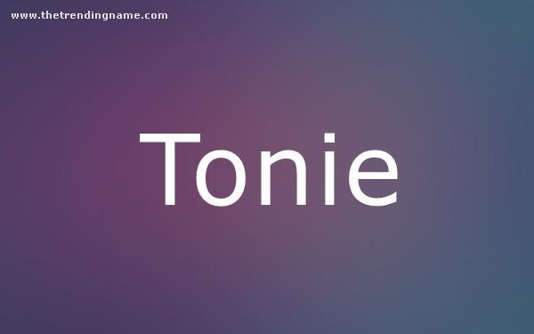 Baby Name Poster For Tonie