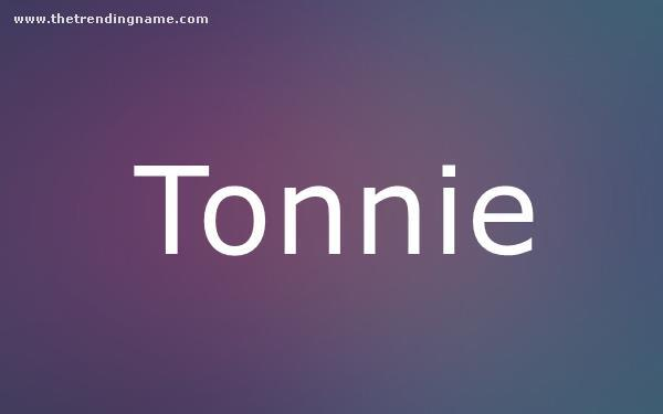 Baby Name Poster For Tonnie