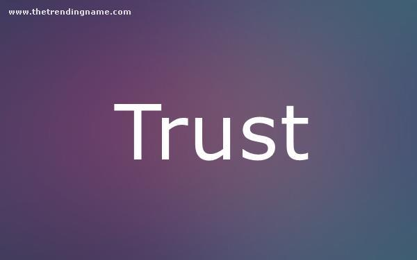 Baby Name Poster For Trust