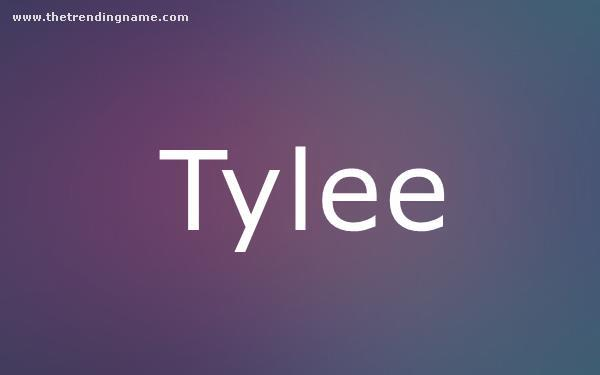 Baby Name Poster For Tylee