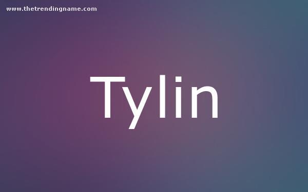 Baby Name Poster For Tylin