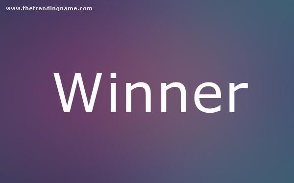 Baby Name Poster For Winner