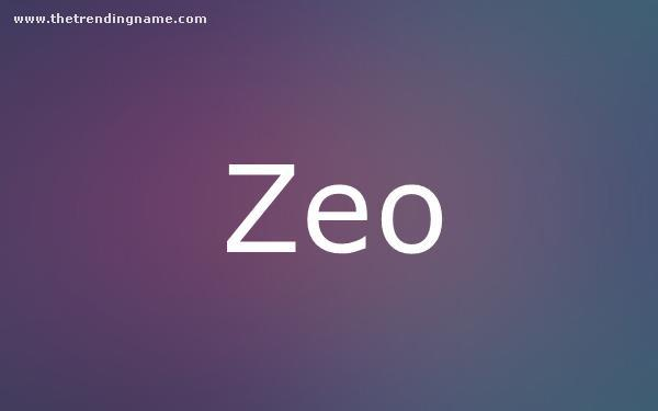 Baby Name Poster For Zeo