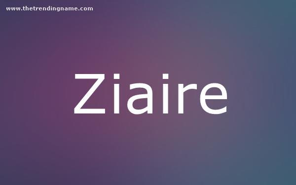 Baby Name Poster For Ziaire