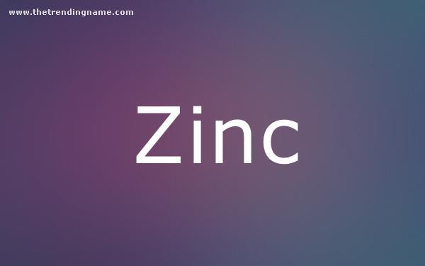 Baby Name Poster For Zinc