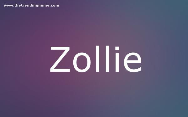 Baby Name Poster For Zollie