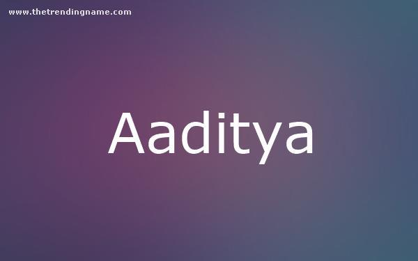 Baby Name Poster For Aaditya
