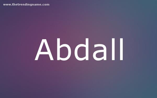 Baby Name Poster For Abdall
