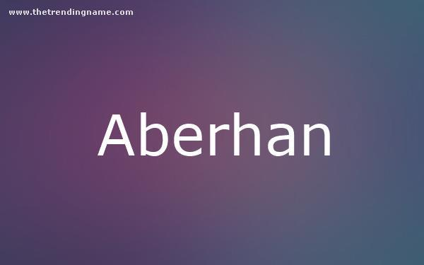 Baby Name Poster For Aberhan
