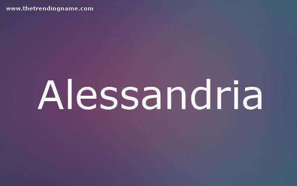 Baby Name Poster For Alessandria