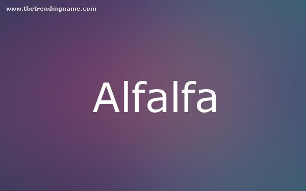 Baby Name Poster For Alfalfa