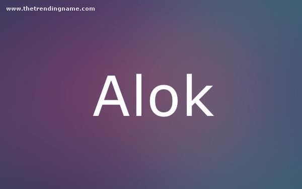 Baby Name Poster For Alok