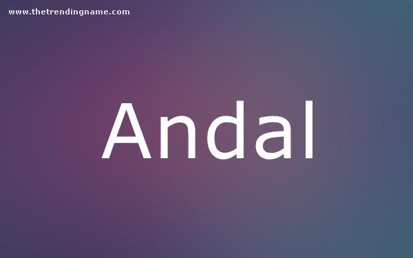 Baby Name Poster For Andal