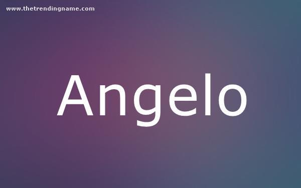 Baby Name Poster For Angelo
