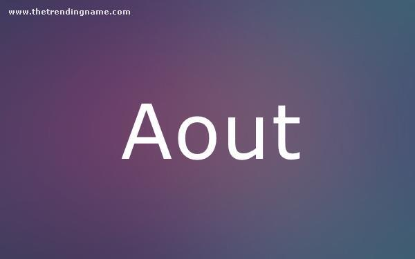 Baby Name Poster For Aout