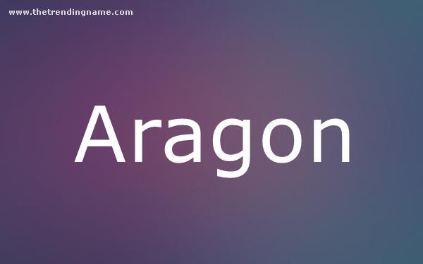 Baby Name Poster For Aragon