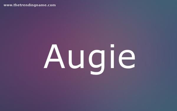 Baby Name Poster For Augie