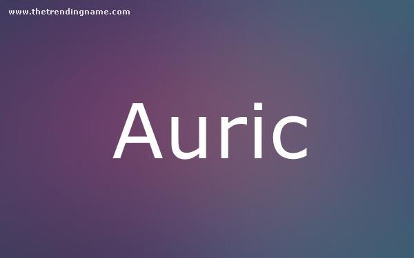 Baby Name Poster For Auric