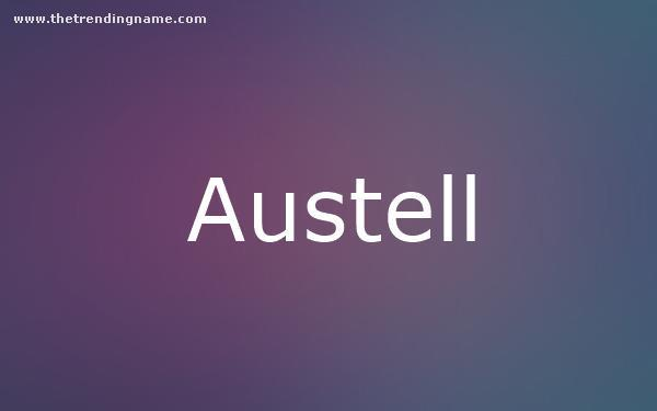 Baby Name Poster For Austell