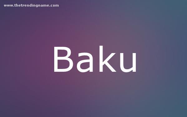 Baby Name Poster For Baku