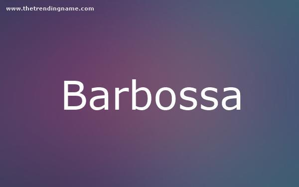Baby Name Poster For Barbossa