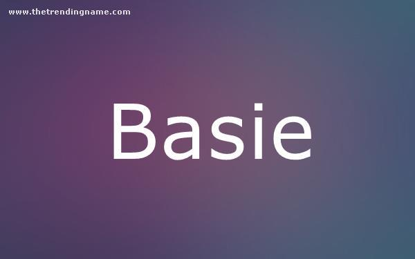 Baby Name Poster For Basie