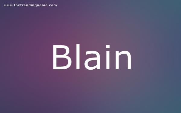 Baby Name Poster For Blain