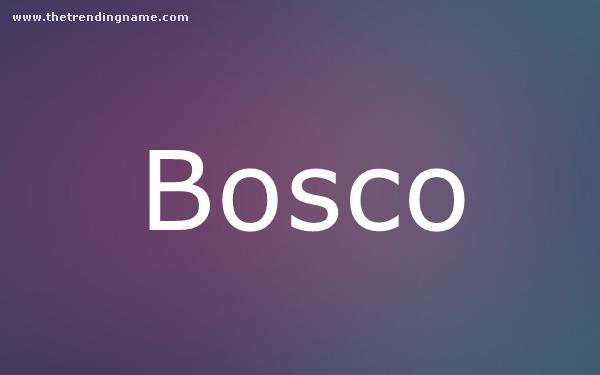 Baby Name Poster For Bosco