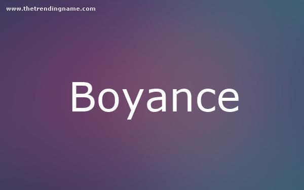 Baby Name Poster For Boyance