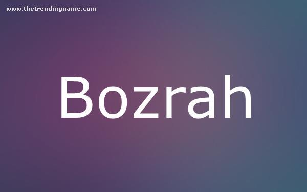 Baby Name Poster For Bozrah