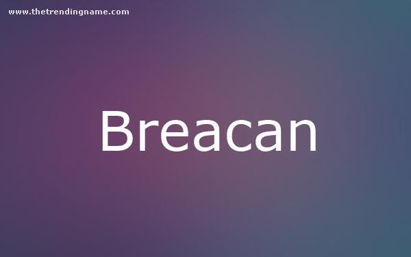 Baby Name Poster For Breacan