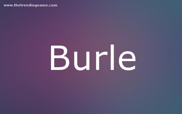 Baby Name Poster For Burle