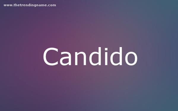 Baby Name Poster For Candido