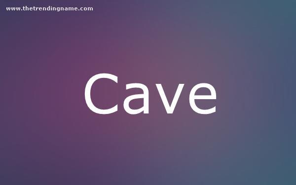 Baby Name Poster For Cave