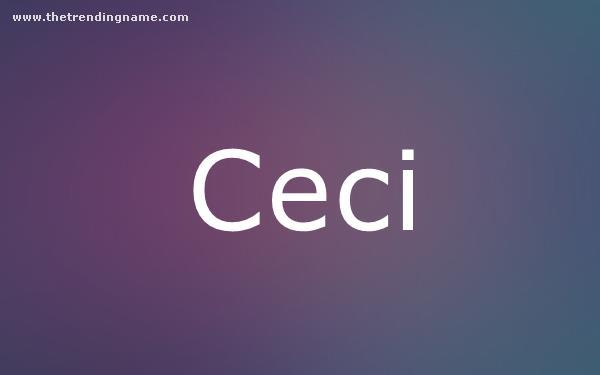 Baby Name Poster For Ceci