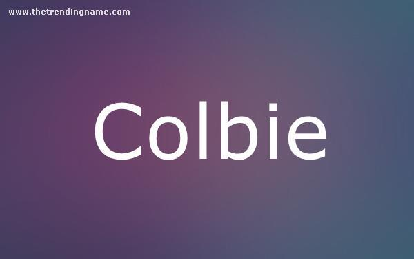 Baby Name Poster For Colbie