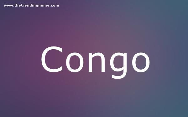 Baby Name Poster For Congo