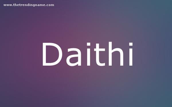 Baby Name Poster For Daithi