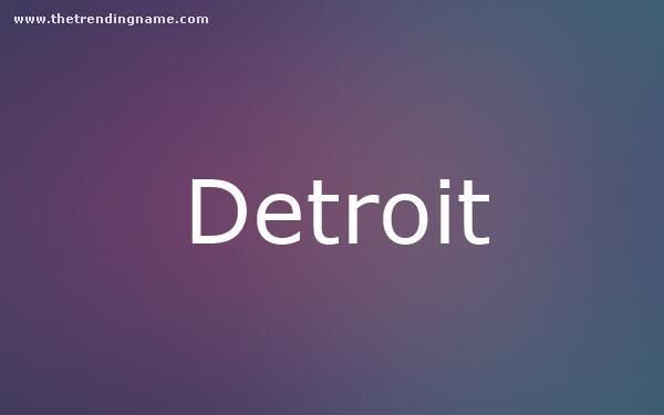 Baby Name Poster For Detroit