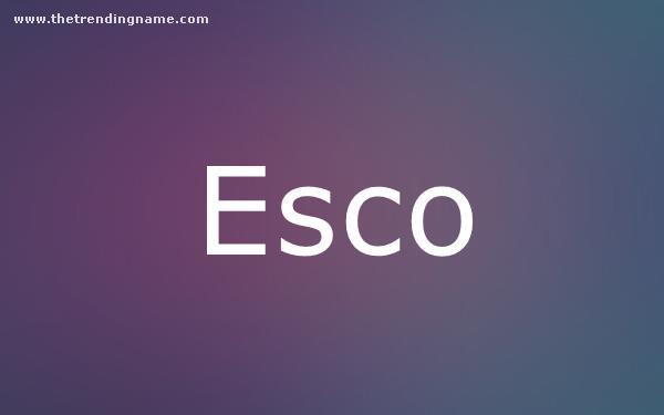 Baby Name Poster For Esco