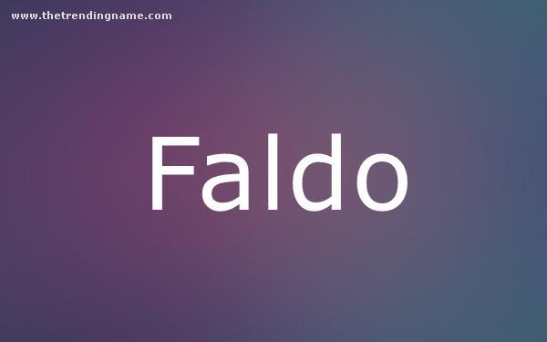 Baby Name Poster For Faldo