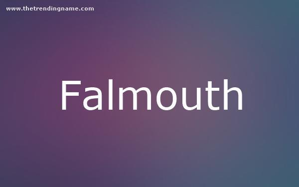 Baby Name Poster For Falmouth