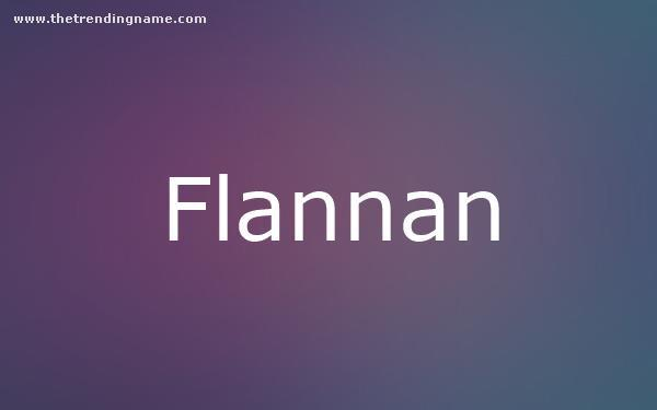 Baby Name Poster For Flannan