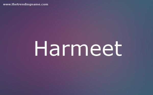 Baby Name Poster For Harmeet