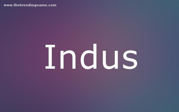 Baby Name Poster For Indus