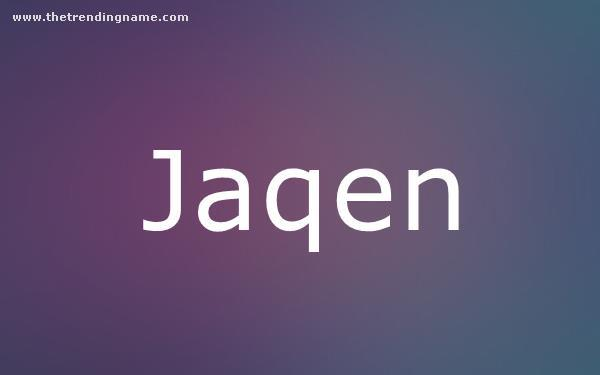 Baby Name Poster For Jaqen